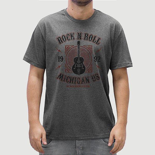 Camiseta Rock Michigan Grafite.