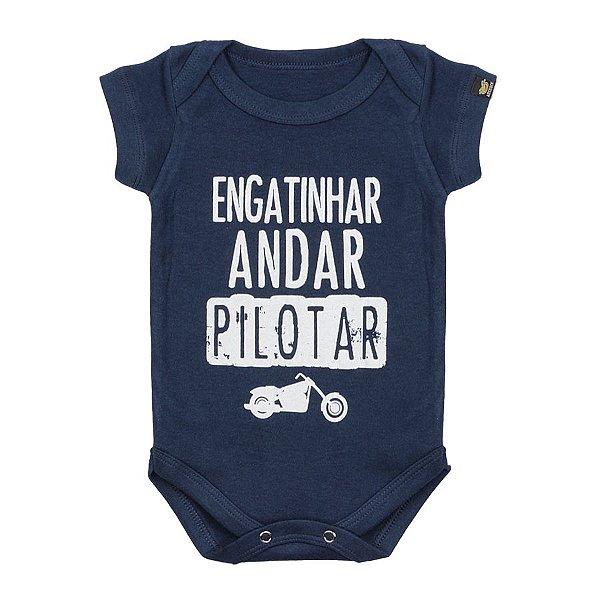 Body Bebê Pilotar Marinho