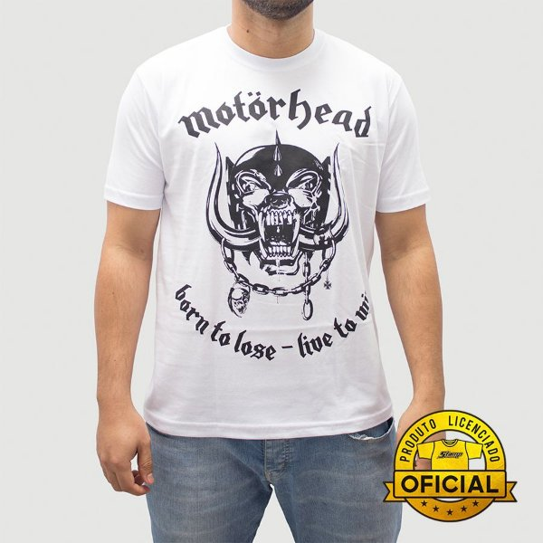 Camiseta MotorHead Born To Lose Branca