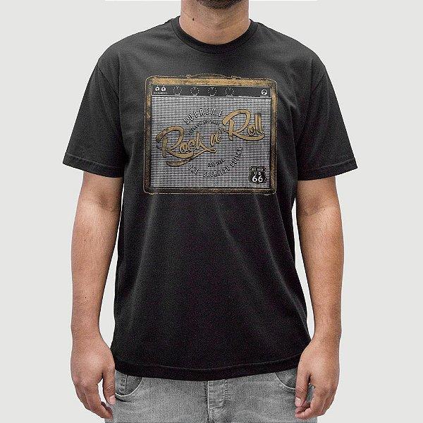Camiseta Rock Amplificador Preta.