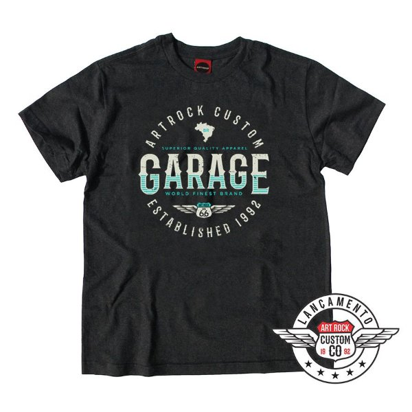 Camiseta Plus Size Custom Garage Preta Jaguar.