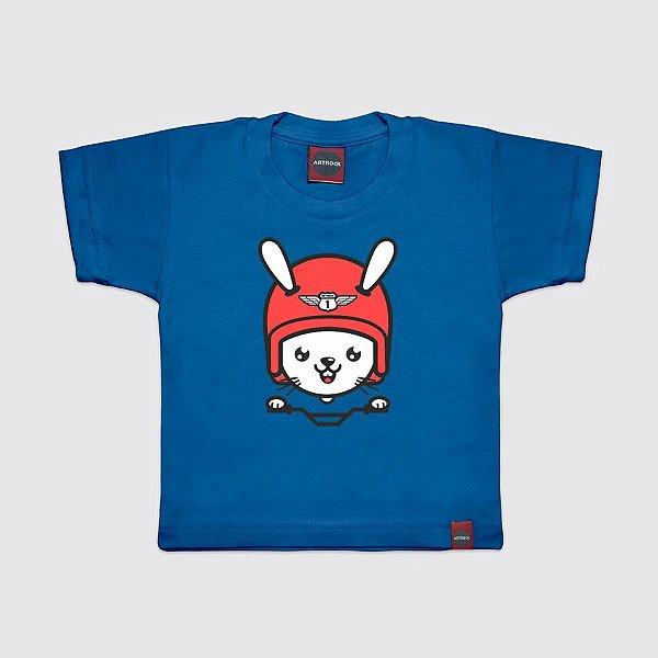 Camiseta Infantil Rider Rabbit Azul Royal