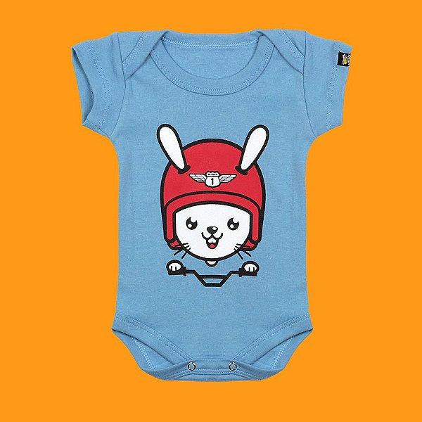Body Bebê Rider Rabbit Azul