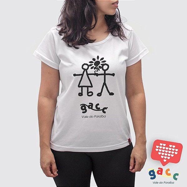 Camiseta Feminina Gacc Mãos Dadas Branca