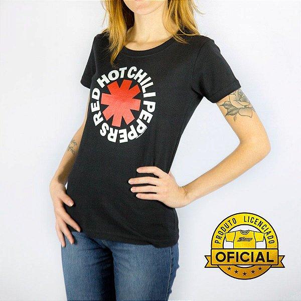 Camiseta Feminina Red Hot Chili Peppers Preta