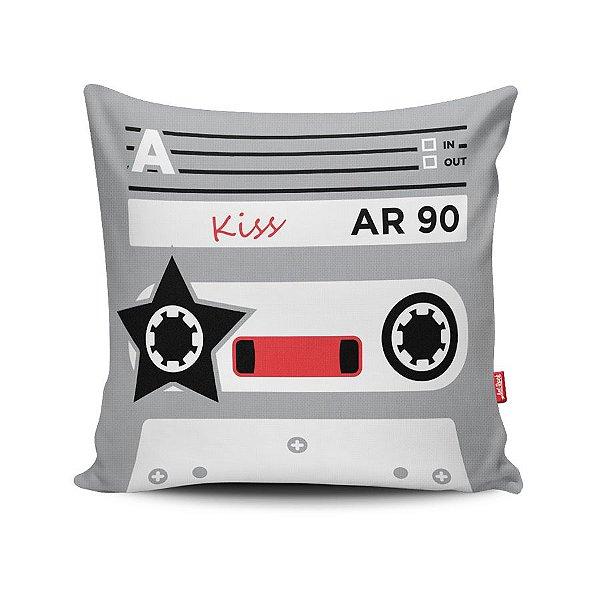 Capa de Almofada Decorativa Fita K7 Kiss
