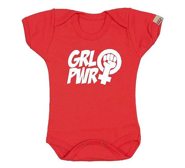 Body Bebê Girl Power Vermelho