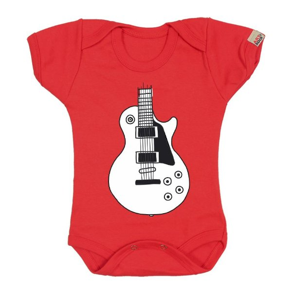 Body Bebê Les Guitar Kids Vermelho
