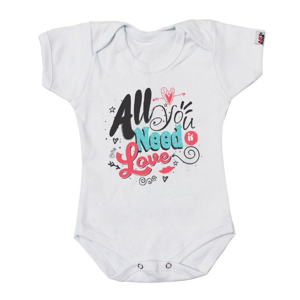 Body Bebê All You Need Is Love Branco