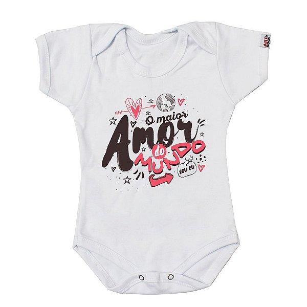 Body Bebê Amor Maior do Mundo Branco