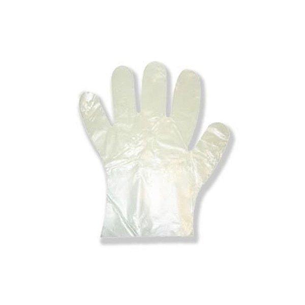 Luva plástica descartável (100 unidades)