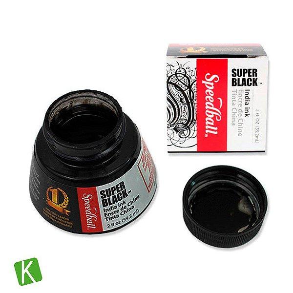 Tinta para Caligrafia Speedball Super Black 59,2ml