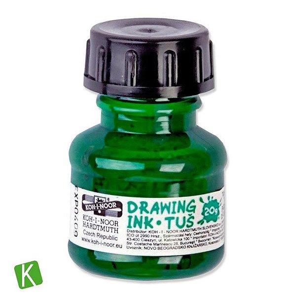 Tinta Drawing Ink para Caligrafia Koh-I-Noor Verde 20g