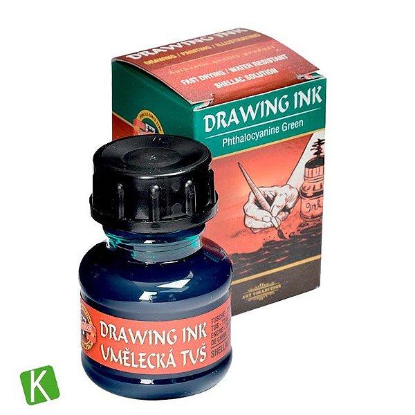 Tinta Drawing Ink para Caligrafia Verde 20g