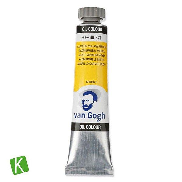 Tinta a Óleo Vang Gogh 20ml 271 Cadmium Yellow Medium
