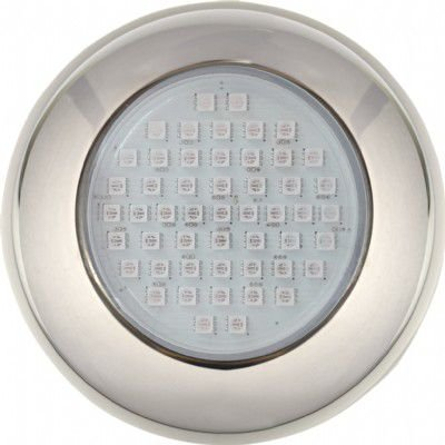 Power LED 9W Inox RGB Brustec