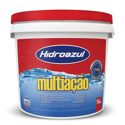 Cloro Hidroazul Multiação Balde de  10KG