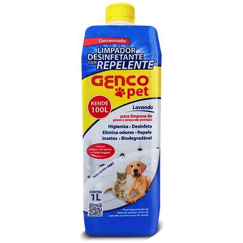 Genco Pet Desinfetante Repelente Concentrado 1L
