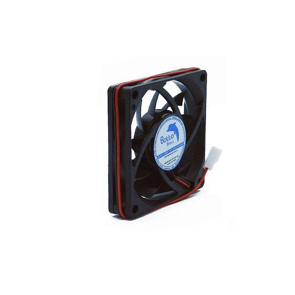 Micro ventilador DC Fan 70x70x15mm 12V Alta Rotação Sleeve/Bucha   Botto Brazil