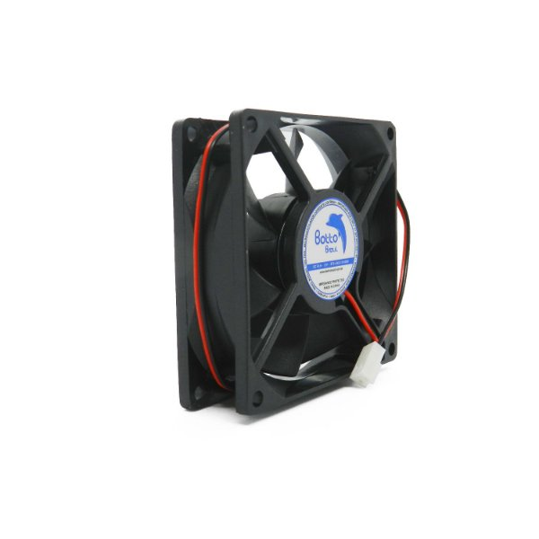 Micro ventilador DC Fan 80x80x25mm 12V Alta Rotação Sleeve/Bucha | Botto Brazil
