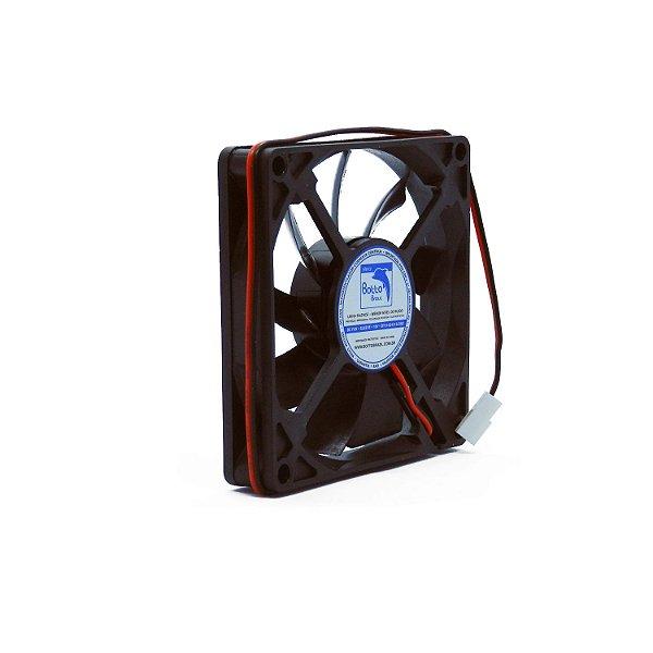 Micro ventilador DC Fan 80x80x15mm 12V Silencioso Baixa Rotação Sleeve/Bucha   Botto Brazil