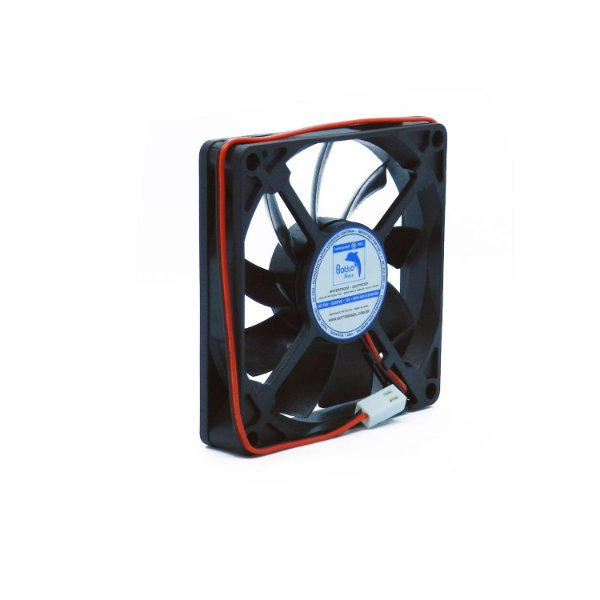 Micro ventilador DC Fan 80x80x15mm 12V Waterproof Alta Rotação Sleeve/Bucha   Botto Brazil