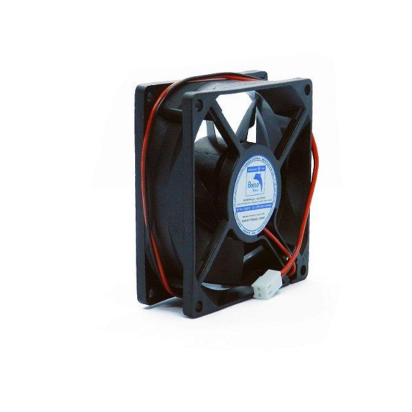 Micro ventilador DC Fan 80x80x25mm 12V Waterproof Alta Rotação Sleeve/Bucha   Botto Brazil
