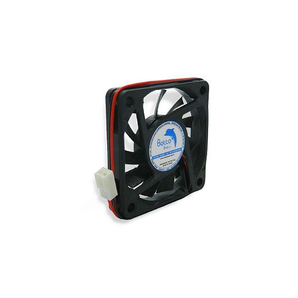 Micro ventilador DC Fan 60x60x10mm 24V Alta Rotação Sleeve/Bucha | Botto Brazil