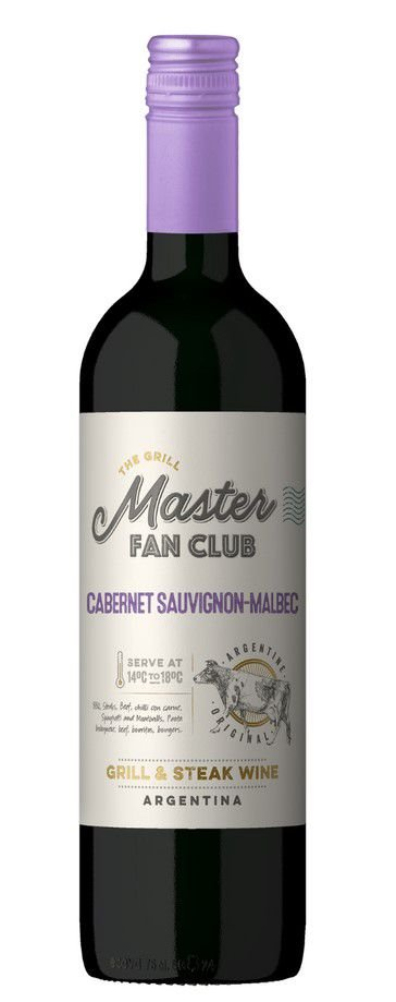 Vinho tinto Cabernet Sauvignon Malbec The Grill Master