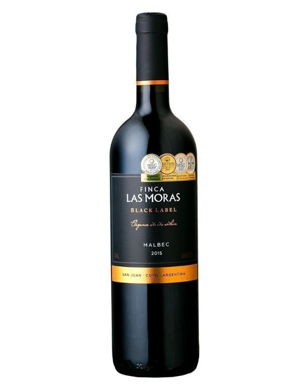 Vinho tinto Malbec Black Label Las Moras