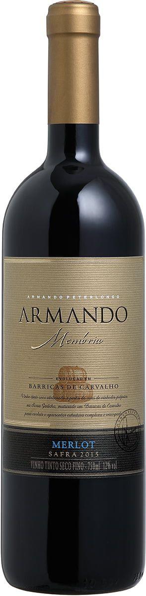 Vinho tinto Merlot Armando Memória