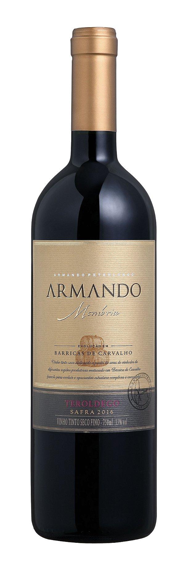 Vinho tinto Teroldego Armando Memória