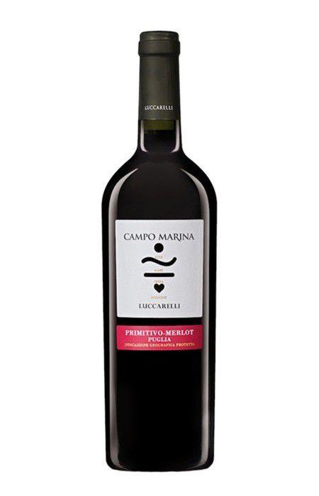 Vinho tinto Puglia Merlot/Primitivo Campo Marina