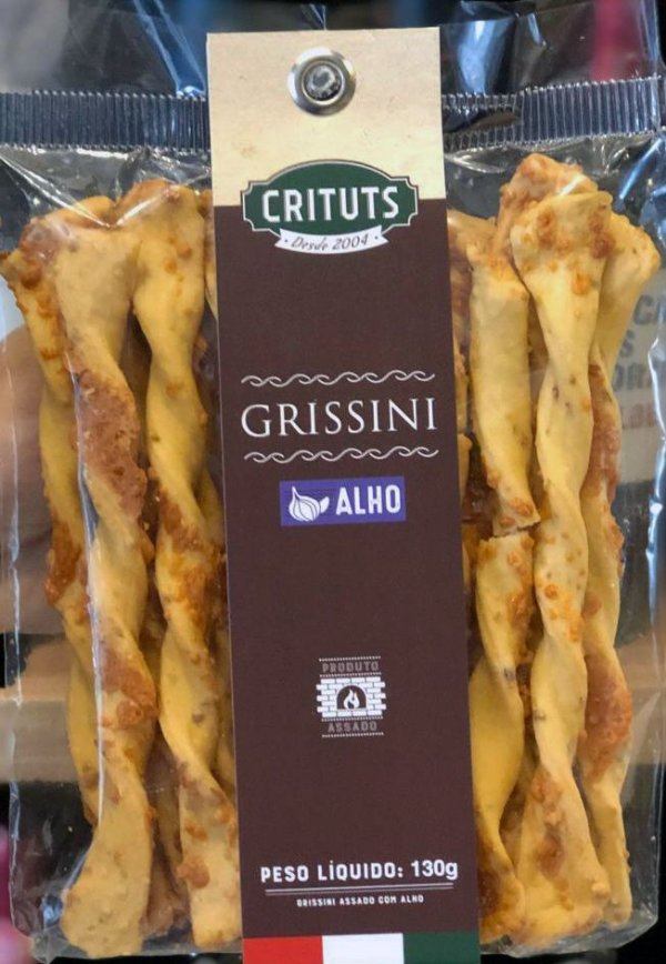 Grissini Artesanal Alho 130g Crituts