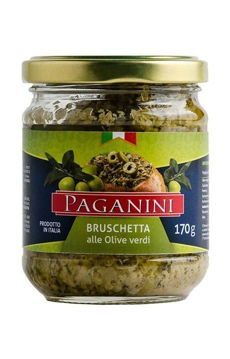 Bruschetta Alle Olive Verde Paganini 170g