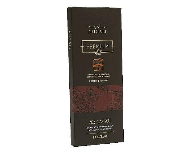 Chocolate Amargo 70% Cacau 100g Nugali