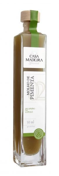 Molho de Pimenta Jalapeno com Lúpulo 50ml Casa Madeira