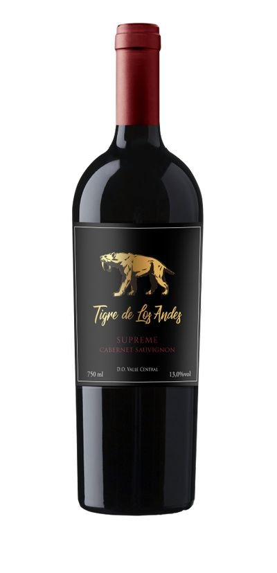 Vinho tinto Cabernet Sauvignon Tigre de Los Andes