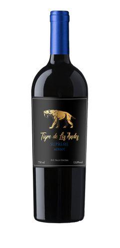 Vinho tinto Merlot Tigre de Los Andes