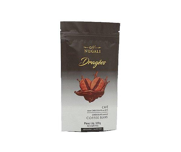 Drágeas de Café com Chocolate ao Leite 45% cacau 100g Nugali