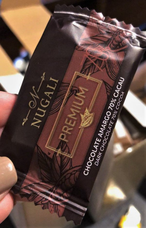 Mini tablete Chocolate 70% Cacau 5g Nugali