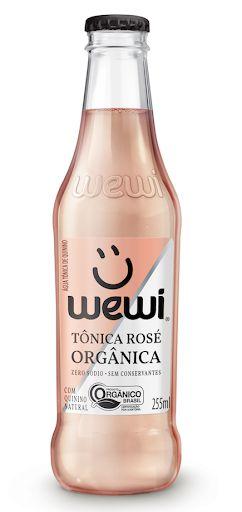 Água tônica orgânica Rosé Wewi 255ml