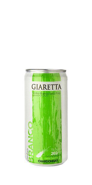 Vinho branco Chardonnay lata 269ml Giaretta