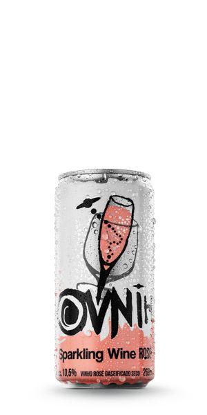 Espumante Rosé OVNIH lata 269ml Giaretta