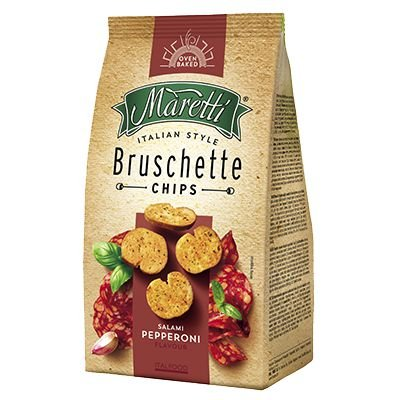 Bruschetta Chips Maretti sabor Salami Pepperoni 85g