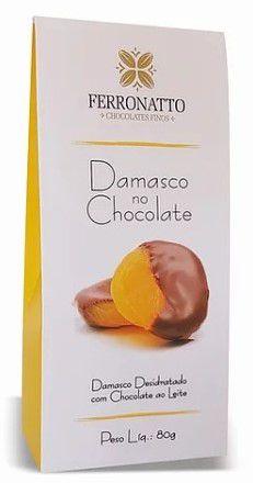 Damasco com Chocolate ao Leite 80g Ferronatto