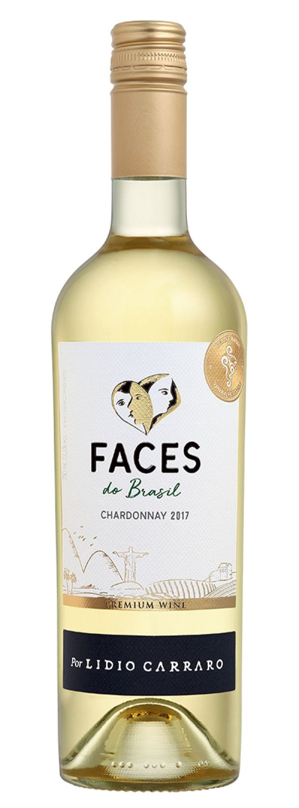 Vinho branco Chardonnay Faces do Brasil Lídio Carraro