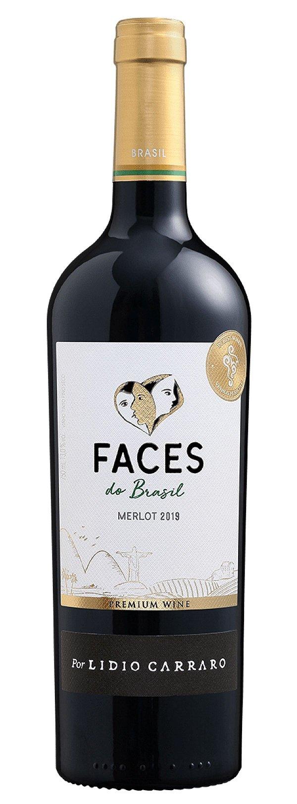 Vinho tinto Merlot Faces do Brasil Lídio Carraro