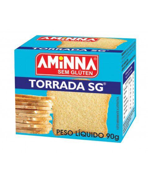 Torrada Tradicional sem glúten 90g Aminna