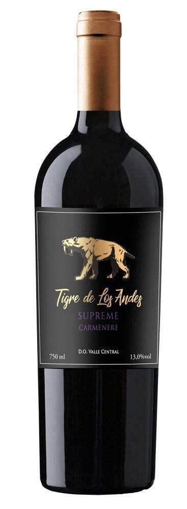 Vinho tinto Carmenère Tigre Los Andes